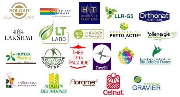 Nos fournisseurs Bio et marques de produits naturels
