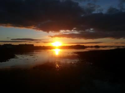 Coucher de soleil sur Roscoff